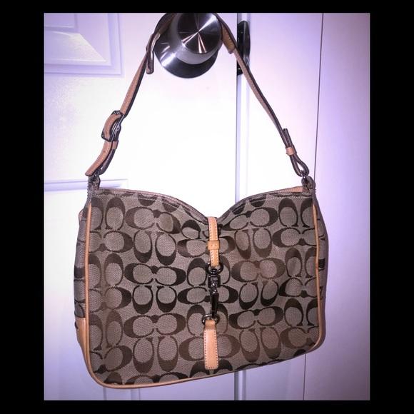 Coach Handbags - Signature brown Coach bag, never used